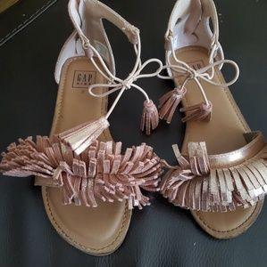 Girl's Fringed Sandals
